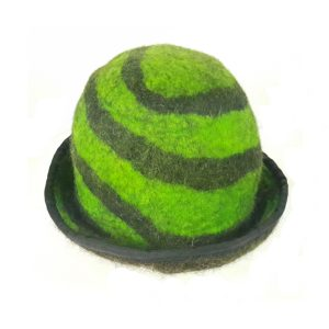 green swirl black hat funky